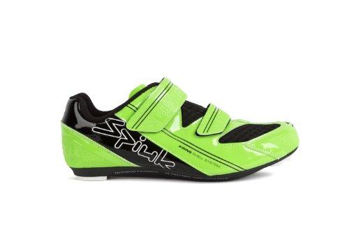 Spiuk Uhra Road - Chaussure de cyclisme unisexe, verte / noire, pointure 40