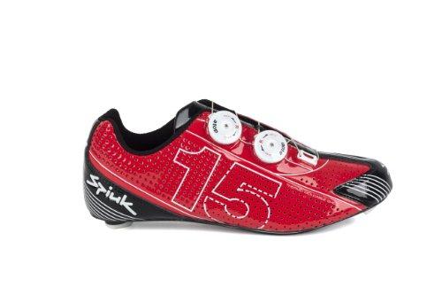 Spiuk 15 Road Carbon - Chaussure de cyclisme unisexe, rouge/blanc, pointure 38
