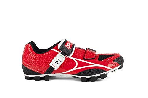 Spiuk Risko MTB - Chaussures de course unisexes, rouge / blanc, taille 49