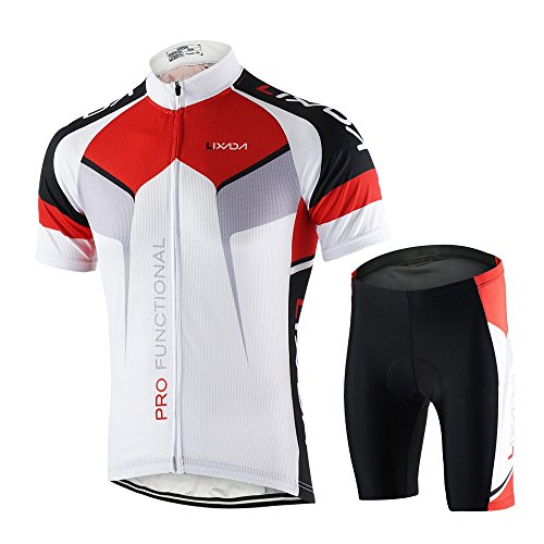 Lixada Vélo Maillots Hommes Maillots Manches Courtes Jersey + Shorts