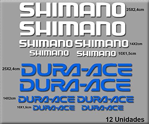 SHIMANO R49 AUTOCOLLANTS VINYLE (BLANC ET BLEU)
