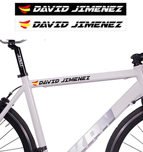 Paquet de 10 adhésifs pour vélos | Personnalisés avec votre nom et votre drapeau