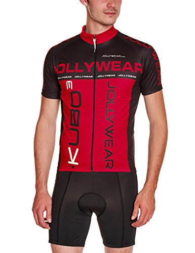 Jolly Wear Mmc_Squadra_Red_Red_L - T-shirt d'été unisexe manches courtes, rouge, taille L
