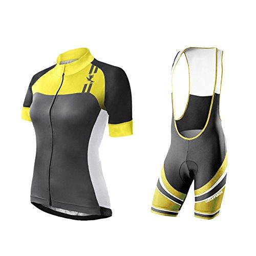 Uglyfrog Short Sleeve Jersey+Trägerhosen Cyclisme Anzüge Vêtements de triathlon respirants d'été pour femmes ESHSJW10