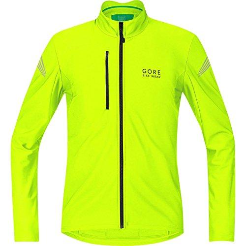 Gore Bike Wear Element Thermo - Maillot de cyclisme pour hommes, noir/jaune (jaune néon), taille S