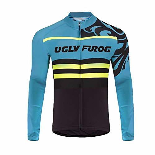 Uglyfrog 2018 #50 Thermo Fleece Cycling Jersey Hommes Manches Longues Hiver avec Maillots en Polaire Vêtements de Cyclisme Vêtements de Cyclisme Vêtements de Cycle
