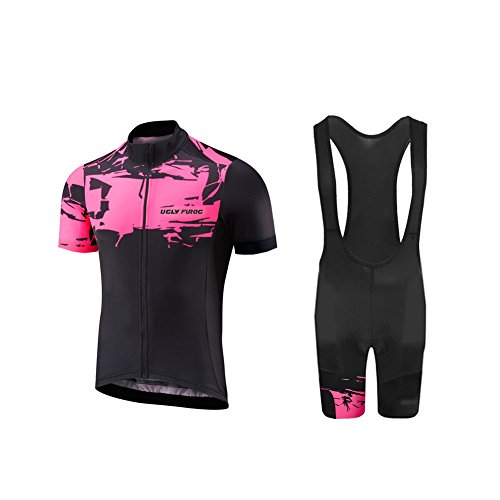 Uglyfrog Women's Cycling Jersey + Short Short Manches Courtes Vêtements Vélo Vêtements Respirants Sports de plein air Cyclisme Uglyfrog....