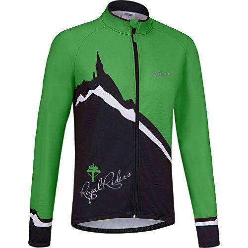Abbaye de Gonso Rad Trikot, automne-hiver, homme, couleur vert - vert, taille M