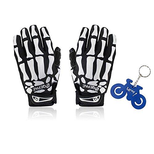 Lerway Bicyclette Motocyclette Motocyclette Motocyclette Squelette Squelette Squelette Sports Gants+ Porte-clés (XL)