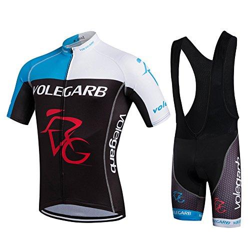 Maillot de cyclisme d'été Fastar pour les hommes et les femmes - Maillot manches courtes + Cuissard de cyclisme pour vélos et...