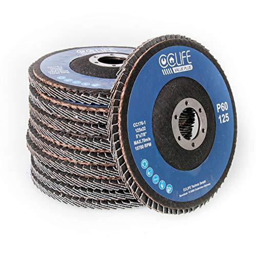 Disque 10PC ø125mm disque abrasif P60/P80 Disque à lamelles