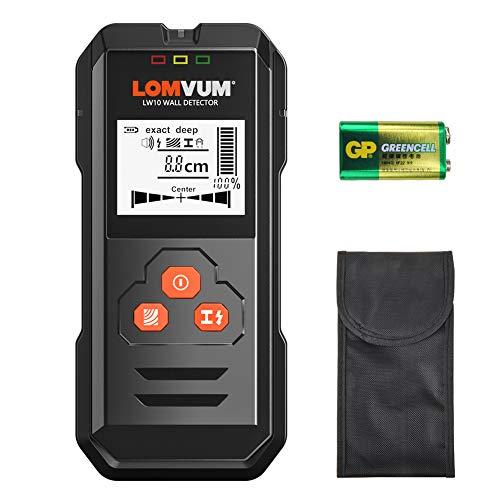 Détecteur mural,LOMVUM LW10 Détecteur de métal, de bois et de câbles CA 3 en 1,...