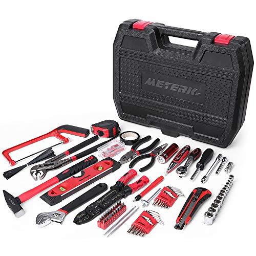 Boîte à outils 170 pièces, jeu d'outils mécaniques Meterk pour...