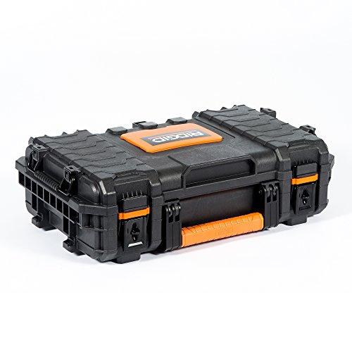 RIDGID 54343 Boîte à outils moyenne professionnelle, Boîte à outils portative,...