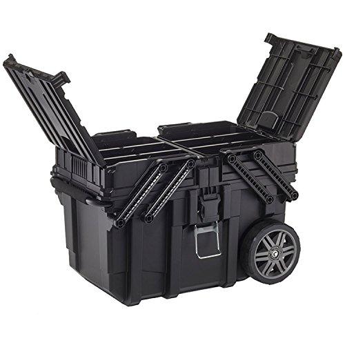 Keter 233743 Boîte de travail - Chariot horizontal, noir, 62,6 x 35,3 x 39 cm