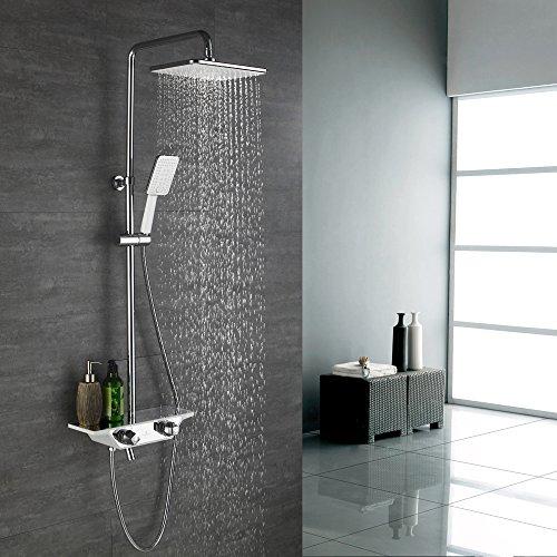 Homelody 38ºC Colonne de douche thermostatique Ensemble de douche avec barre...
