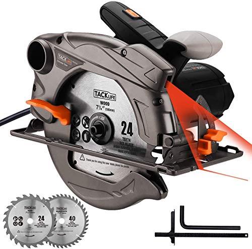 Scie circulaire TACKLIFE 1500W 4700RPM, lame de scie compatible : 185 et ...