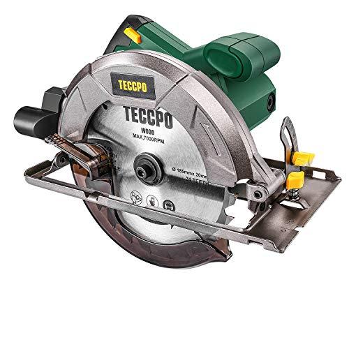 Scie circulaire, TECCPO Professional 1200W Scie circulaire électrique 5800...