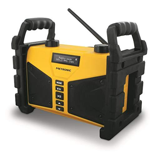 Radio FM Metronic pour le travail professionnel en Bluetooth, 20W, double alarme, ...