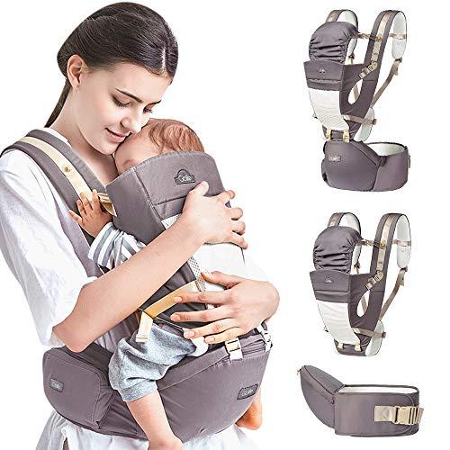 Porte-bébé ergonomique Porte-bébé multifonctionnel 4 en 1 avec écharpe...