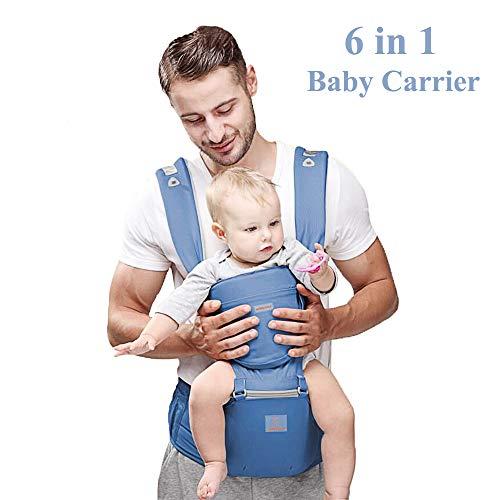 Porte-bébé ergonomique Happy Walk Porte-bébé ajustable 6...
