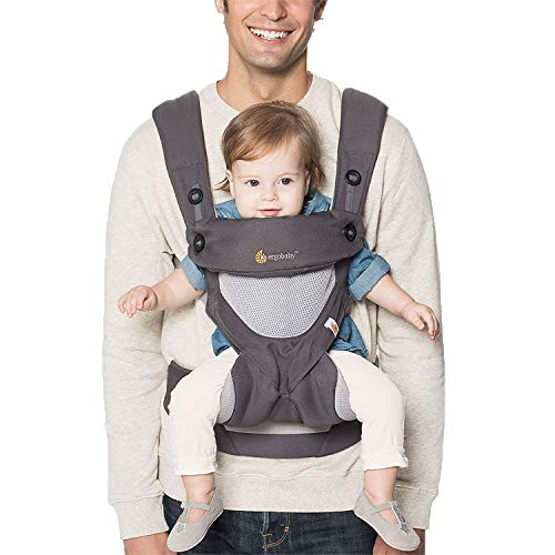 Ergobaby 360 Cool Air - Porte-bébé, gris anthracite