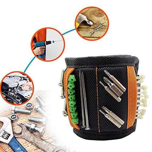 Leegoal Bracelet magnétique ajustable avec 10 aimants puissants et 2 petits...