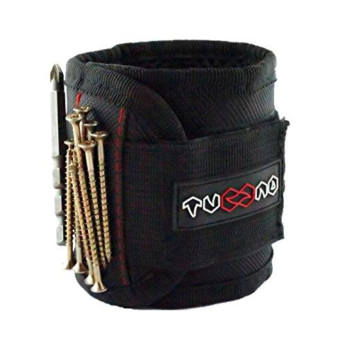 Bracelet magnétique avec 5 aimants puissants pour maintenir des vis, des clous,...