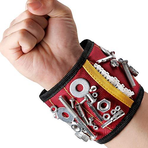 MYCARBON Bracelets magnétiques Bracelet avec 15 aimants 2 Sac à outils...