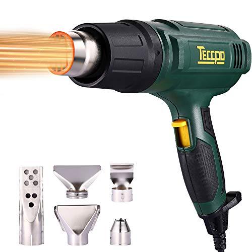 Pistolet à air chaud, TECCPO 2000W 230V électrique professionnel, 3...