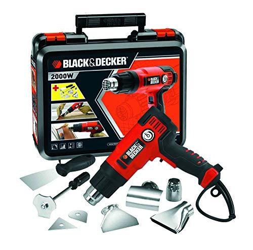 BLACK+DECKER KX2200K-QS - Décapant de peinture 2.000W, jusqu'à 645˚C, 230V, comprend 8 ...