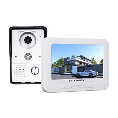 FLOUREON Système d'interphone de sécurité vidéo avec 7...