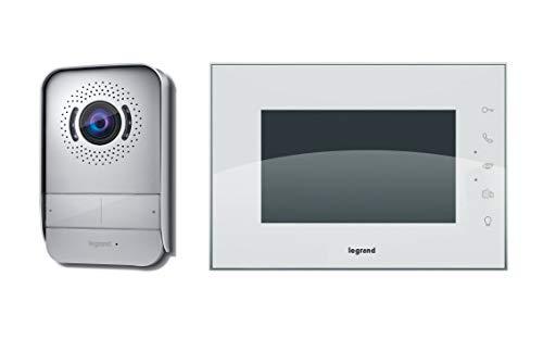 Système de portier vidéo Legrand avec deux fils de connexion, un moniteur couleur et une caméra...