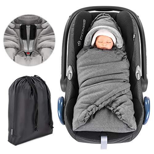 Zamboo - Couverture matelassée pour bébé avec capuche et sac - Berceuse...
