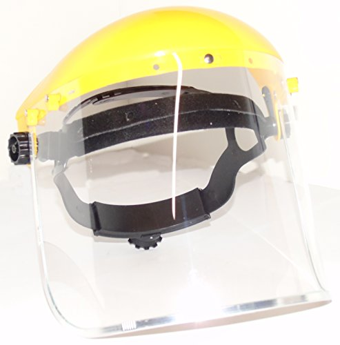 Écran facial industriel transparent et visière large de sécurité
