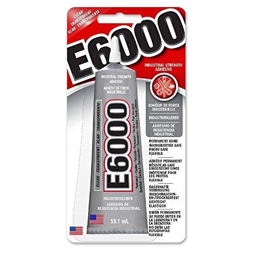 E-6000 Colle adhésive claire de qualité industrielle 3,7 onces par Eclectic E6000