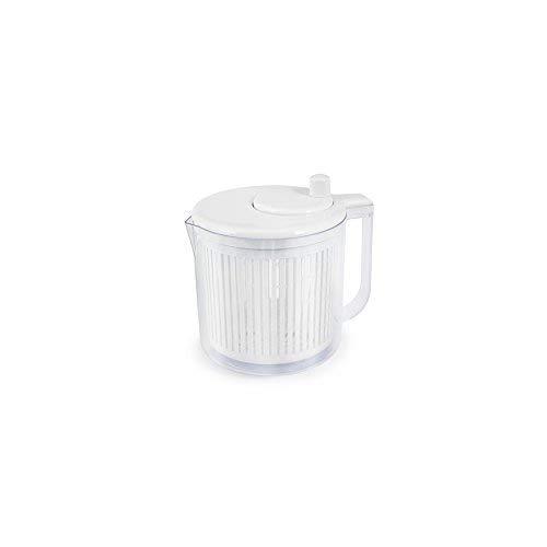 Centrifugeuse à salade H&H d928, plastique, blanc/clair, 21,5 x...