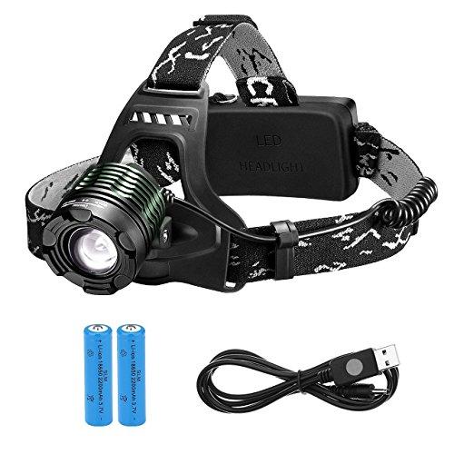 TOPELEK Projecteur LED rechargeable haute puissance 3000 Lumens,...