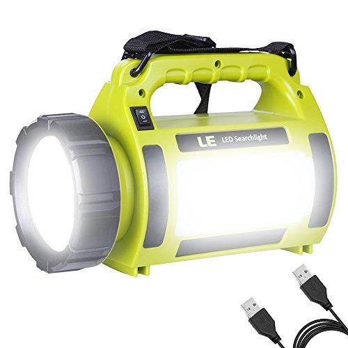 LE Lampe de poche rechargeable à LED 1000lm, réglable, projecteur avec ...