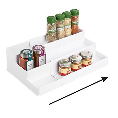 mDesign Étagère à épices coulissante pour armoire de cuisine - Étagère pour...