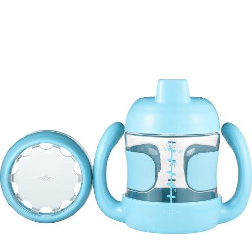 OXO Tot - tasse 2 en 1 adaptée à la croissance, couleur turquoise