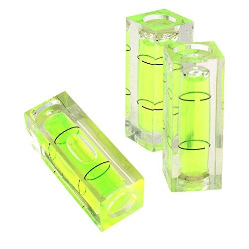 3 pièces 15 * 15 * 40 mm carré PMMA niveau à bulle acrylique Coque...