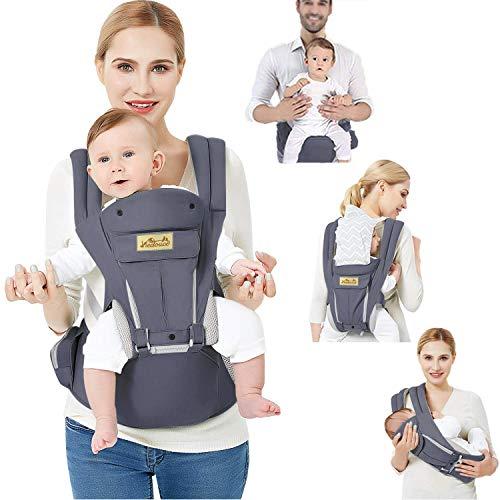 Porte-bébé ergonomique multifonction Viedouce respirant, en coton...