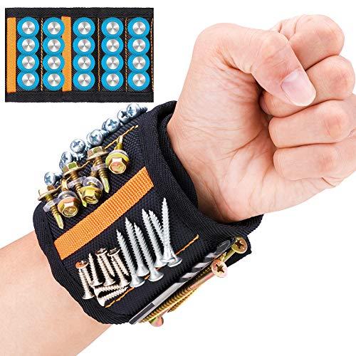 Bracelet magnétique JTENG avec 20 aimants puissants, ceinture d'outils...