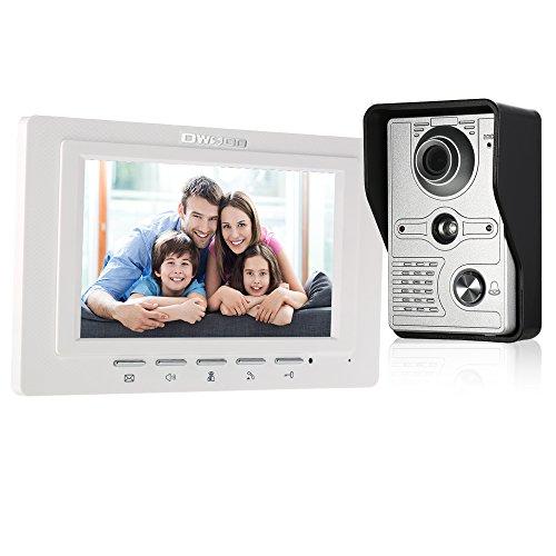 OWSOO Interphone vidéo à sonnette filaire (caméra de 1000TVL avec...