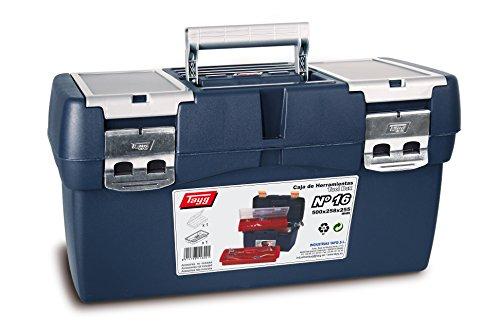 Tayg 16 Boîte à outils en plastique, bleu/rouge, 500 x 258 x 255 mm