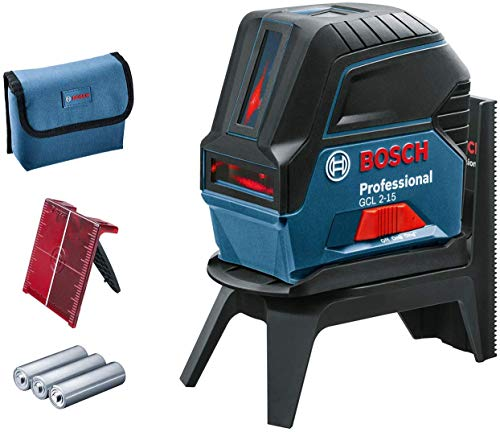 Bosch Professional GCL 2-15 - Niveau laser (portée 15m, plaque réflectrice, ...