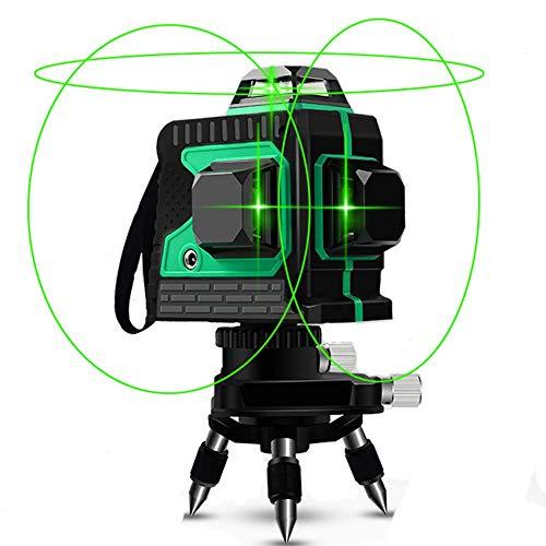 Niveau laser, Careslong 12 bandes avec lignes de nivellement automatique 3 * 360 lignes...