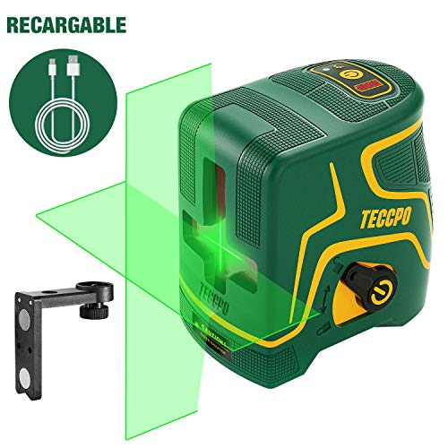 Niveau laser vert 30m TECCPO, chargement USB, 120° horizontal et vertical,...