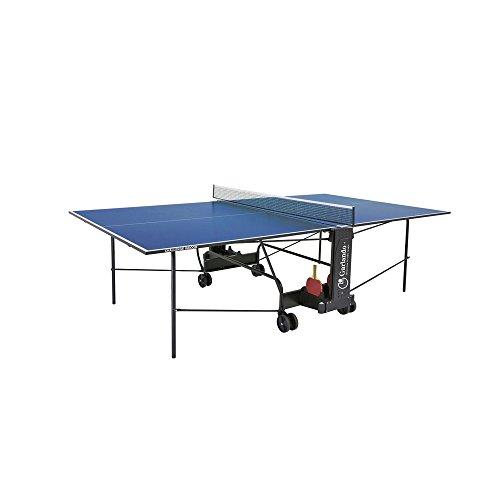 Garlando Table Ping Pong Challenge à l'intérieur avec roue intérieure bleue